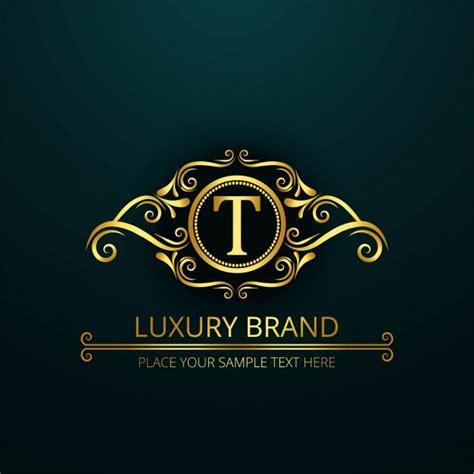 free luxury logo design luxury letter t logo vector free download