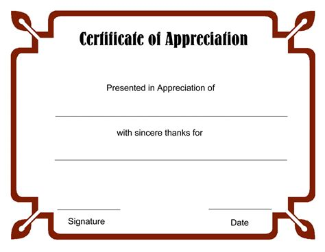 word template certificate of appreciation certificate of appreciation template word gallery