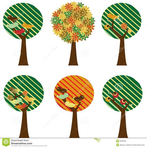 Set Of Retro Trees Royalty Free Stock Images Image 9239529 Vintage Family Tree Royalty Free Stock Images Image 32018779