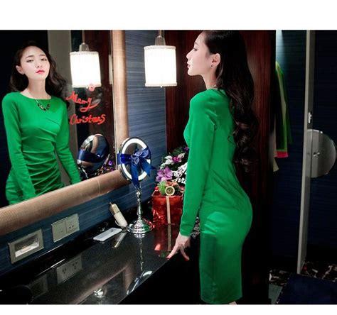 dress wanita lengan panjang selutut 2015 jual model