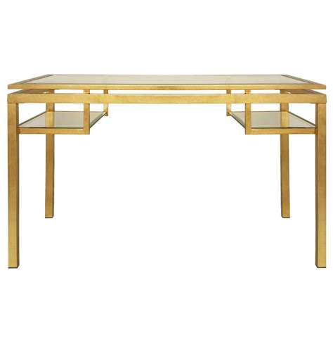 gold and glass desk cordoba hollywood regency glass gold leaf desk kathy kuo