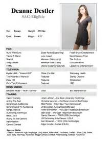 Acting And Modeling Resume Actor Resume With No Experience Actor Resume With No