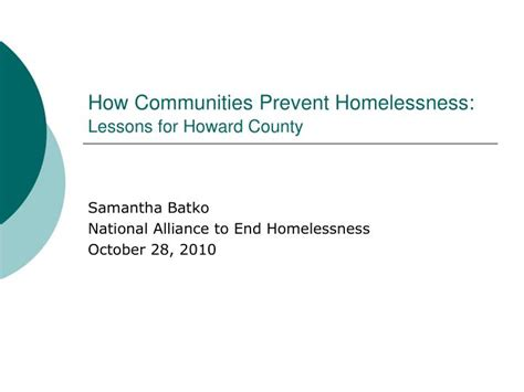 how to keep homeless your property ppt how communities prevent homelessness lessons for