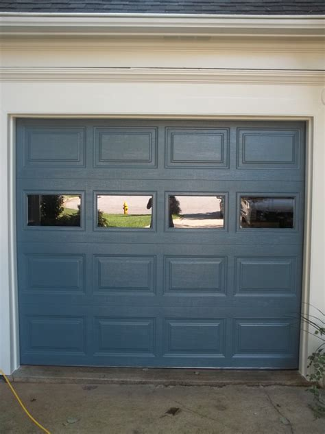 blue garage door blue one car garage door in dumfries affordable door