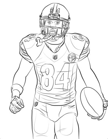brown coloring pages antonio brown coloring page free printable coloring pages