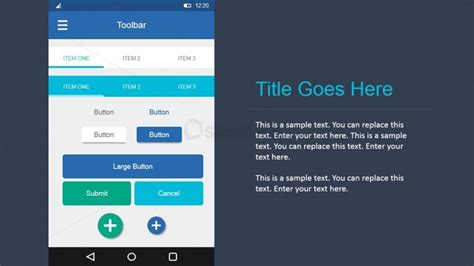 powerpoint templates for android elemental ui buttons in android materials design for