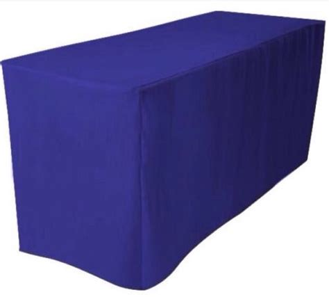 8 ft fitted polyester tablecloth trade show booth dj