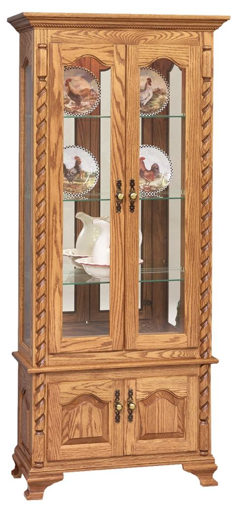 what goes in a curio cabinet curio cabinet with ropes from dutchcrafters amish furniture