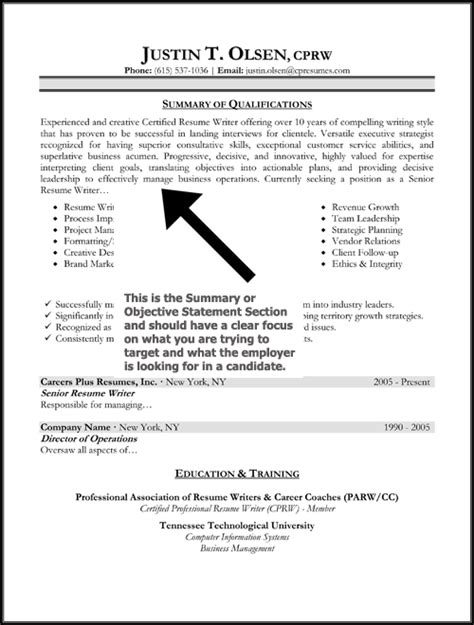 Resumes Objectives Statements The Resume Objective Statement Has Been Replaced By The