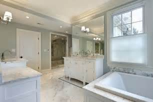 White Master Bathroom Ideas by White Tile Bathroom For Luxury Master Bathroom Design