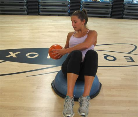 russian twist on bosu the exercise ab credit bosu for your belly popsugar fitness
