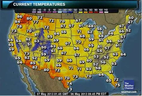 weather map of us right now seattle is the warmest place on nationwide weather map