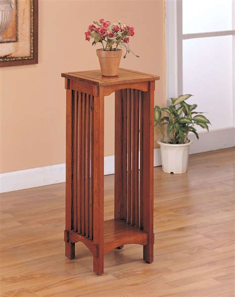 narrow accent table coaster oak tall narrow square top accent table