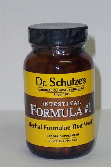 Dr Schulze Detox by Dr Schulze Intestinal Formula 1 Organic Herbal Colon