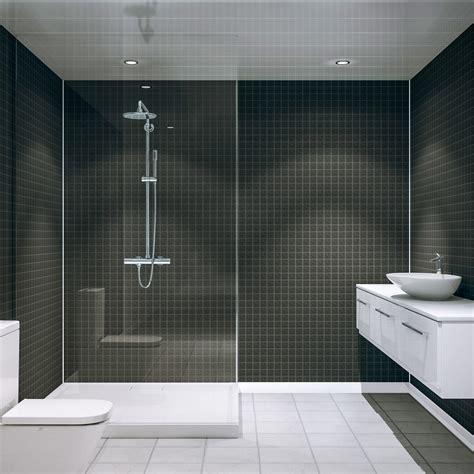 multi panels for bathrooms multipanel black slate embossed tile 2440mm x 1220mm