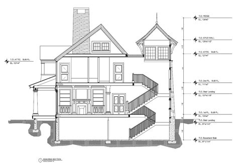 layout section view architectural drafting services 2d 3d cad drawings