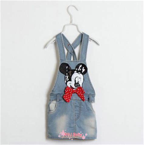 Overall Jumpsuit Minnie Denim child denim dresses mickey minnie mouse