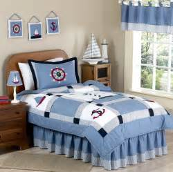 Blue nautical childrens bedding twin full queen comforter sets