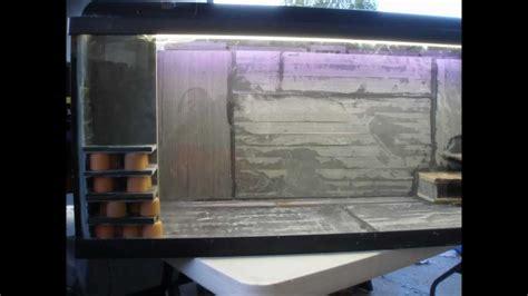 aquarium design using slate my home made slate fish tank design youtube