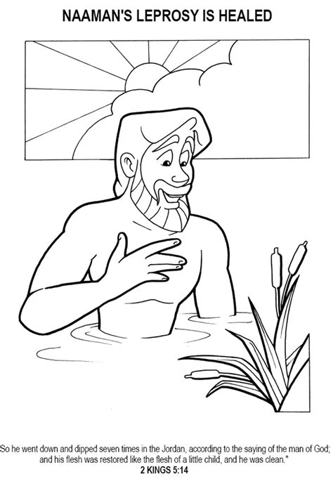 free bible coloring pages naaman free coloring pages of naaman