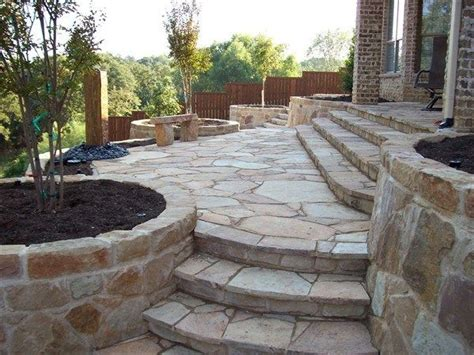 Flagstone Patio Steps by Image Detail For Flagstone Patio Stairs Outdoors