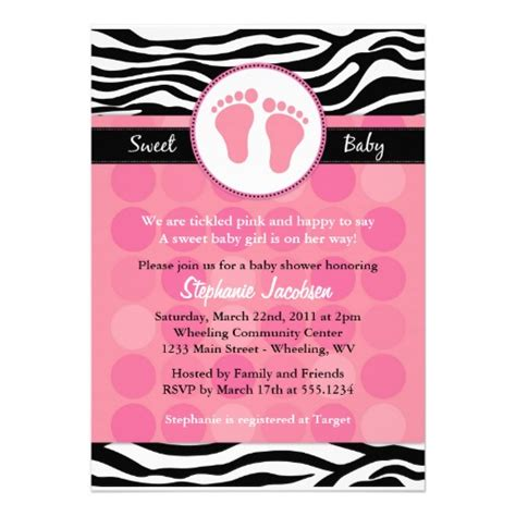 printable zebra print baby shower invitations 9 best images of zebra baby shower invitations templates