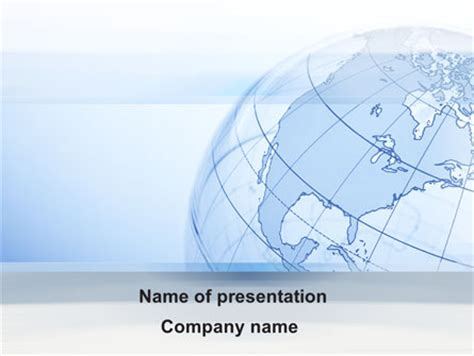 Transparent Globe Presentation Template For Powerpoint And Keynote Ppt Star Globe Powerpoint Template