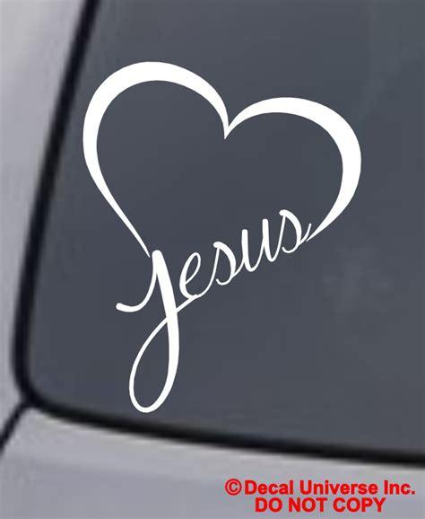 Auto Sticker Jesus by Jesus Vinyl Decal Sticker Car Window Wall Bumper God