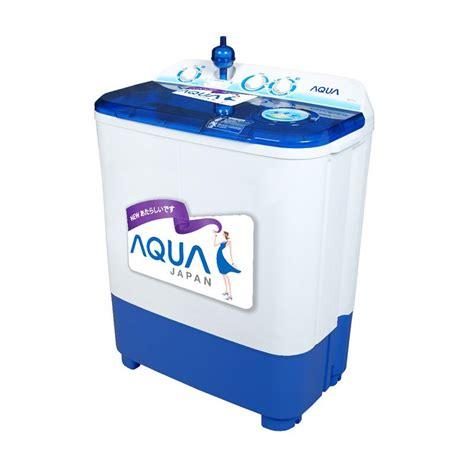 Mesin Cuci Sanyo 1 Tabung Aqua jual aqua qw755xt mesin cuci putih biru 2 tabung 7 kg