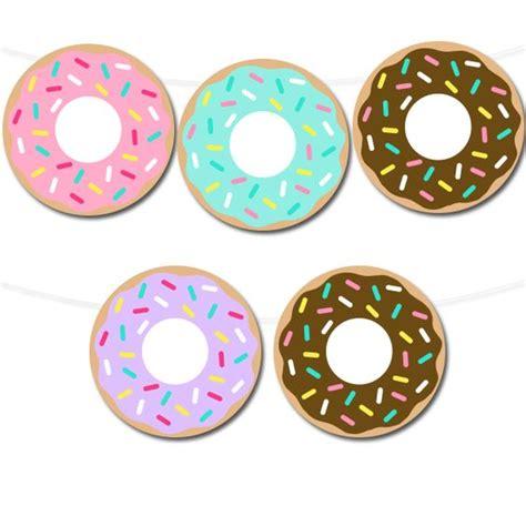 printable donut images free printable donut banner via printable party decor