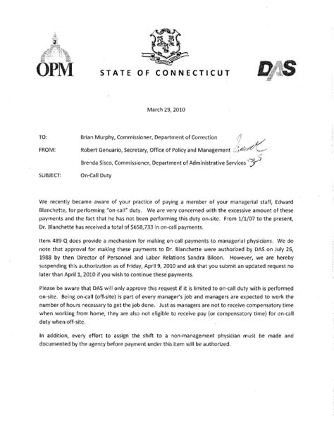 Memo Format Cga Regular Pay And Other Forms Of Pay For State Employees