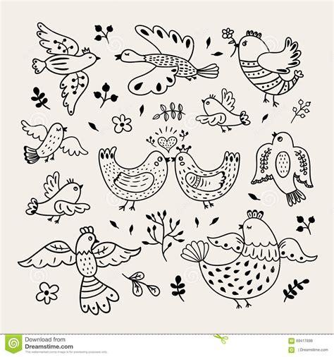 doodle bird free vector vector birds decorative doodle birds
