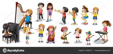 imagenes niños tocando instrumentos musicales muchos ni 241 os tocando diferentes instrumentos musicales