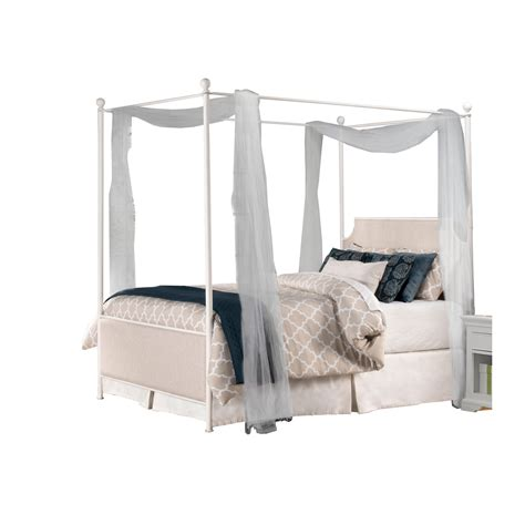 white queen canopy bed 19761999bcq