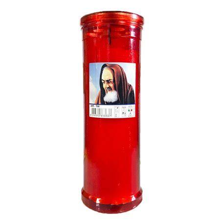 candele antivento 5 candele di cera padre pio luce votiva cero antivento