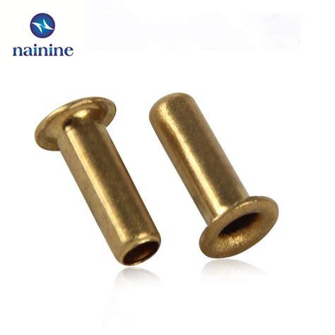 Bor Rivet 100pcs m1 5 2 5 3 3 5 4 6 gb876 tubular rivets sided circuit board pcb nails copper
