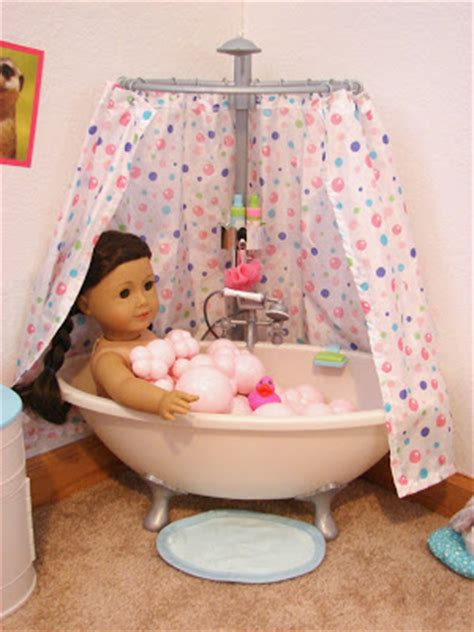 american girl bathtub american girl doll play our doll play area the bathroom