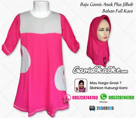 Gamis Anak Hello Melody Pink koleksi gambar gamis anak oka oke warna dominan pink baju gamis anak oka oke