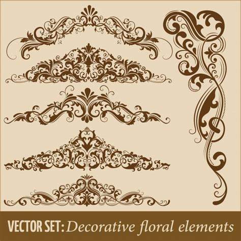 vector decorative design elements page decor art deco border vectors photos and psd files free download