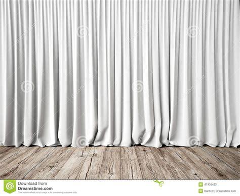 tende bianche tende bianche e pavimento di legno fotografia stock