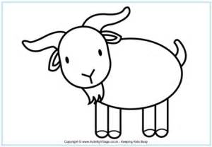 goat template printable goat template clipart best