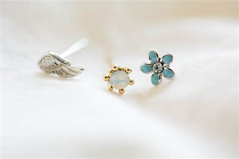 wing stud earrings and cartilage earrings set earrings for