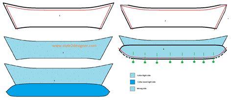 pattern making shirt collar shirt collar cuff sewing style2designer
