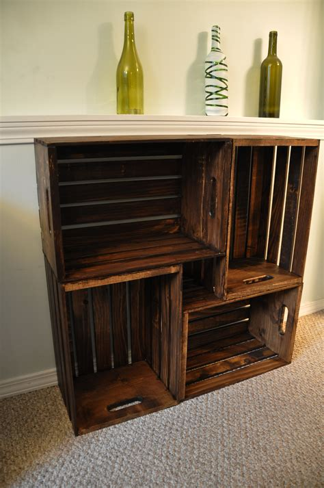 wooden crate shelves wooden crate bookcase diycraftcorner