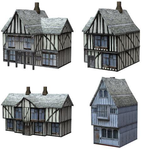 Tudor Floor Plans Low Polygon Medieval Buildings 3 For Poser 3d Models Vanishingpoint