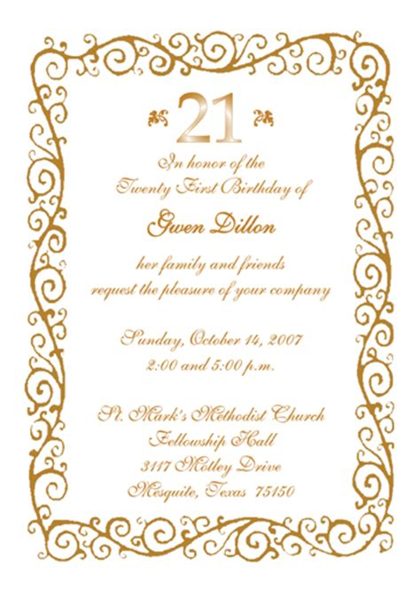 21st birthday invitation cards design 21st birthday invitation