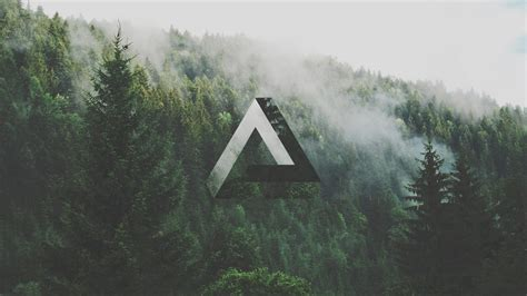 triangle geometry forest penrose triangle wallpapers hd