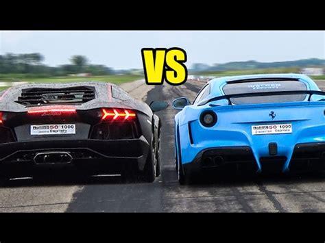 Lamborghini Aventador Vs F12 Berlinetta F12 Vs Lp700 4 Lamborghini Aventador X 4 Races