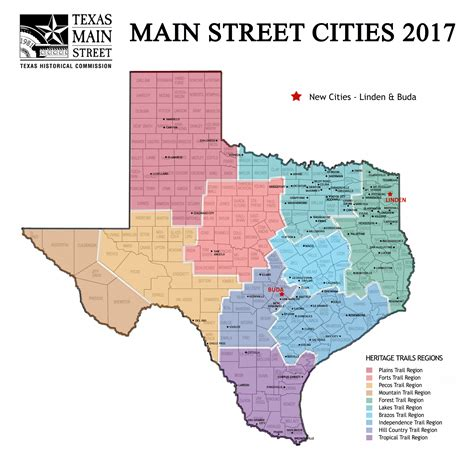 texas map towns current participants thc texas gov texas historical commission