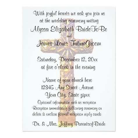 Christian Wedding Cards Design Templates by Religious Wedding Invitations Religious Wedding